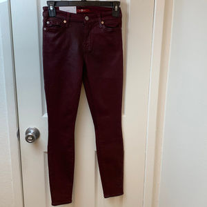 NWT 7 for all mankind The ankle skinny wine Jeans